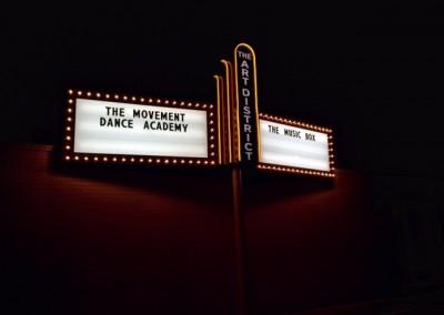 Signage outside of studio